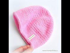 I začátečníci zvládnou tuto krásnou jarní či podzimní čepičku pro děti. Vzor je univerzální, hodí se jak pro chlapce, tak pro dívky. Knitted Hats, Crochet Hats, Crochet Basics, Beanie, Knitting, Free, Sombreros, Tricot, Knitting Hats