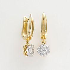 Want...Endless Diamond 14k Gold Two-Tone .46-ct. T.W. Diamond U-Hoop Earrings