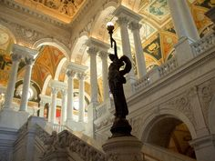 Library of Congress building interior, Washington, DC
