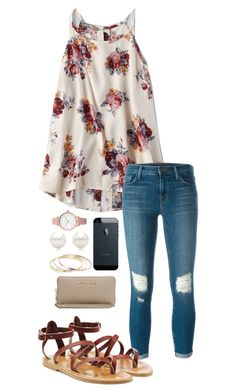 A fashion look from April 2016 featuring American Eagle Outfitters tops, J Brand jeans and K. Browse and shop related looks. Mode Outfits, Casual Outfits, Fashion Outfits, Fashion Trends, Night Outfits, Jean Outfits, Fashion Shoes, Casual Jeans, Skirt Outfits