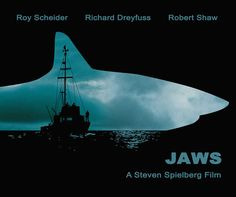 Jaws Minimalist Movie Poster Print Steven by SuddenGravityPosters