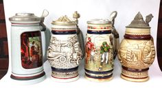 1970's & 1980's Avon Steins Collection by ArtMaxAntiques on Etsy