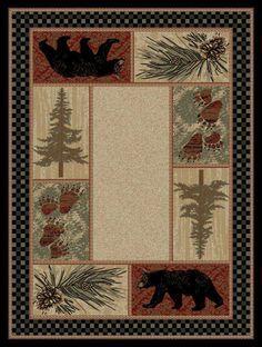 Black Bear Pine Lodge Rug