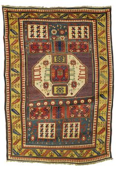 Karachopt Kazak rug, Southwest Caucasus approximately 8ft. 7in. by 5ft. 9in. (2.62 by 1.75m.) mid-19th century