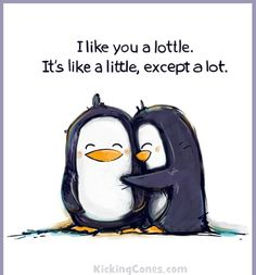 I like you a lottle.  Awe