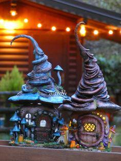 Fairy Crafts, Clay Design, Fairy Houses, Polymer Clay, Fair Grounds, Home And Garden, Fantasy, Activities, Christmas Ornaments