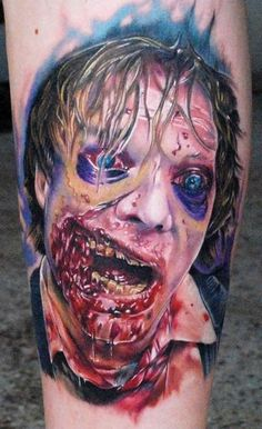 Zombies... hahaha hilarious tattoo!just pinning to show marc! lol//AND I HAD TO REPOST CAUSE ITS ITS SO UGLY! SORRY DUDE! LOL