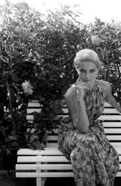 Virna Lisi in soft silk summer frock