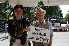 Rex and Grand Marshall of the Parade, Jim McGrady