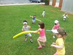 Fun ideas to get the kids outside and moving for end of the school year parties or summer cookouts!