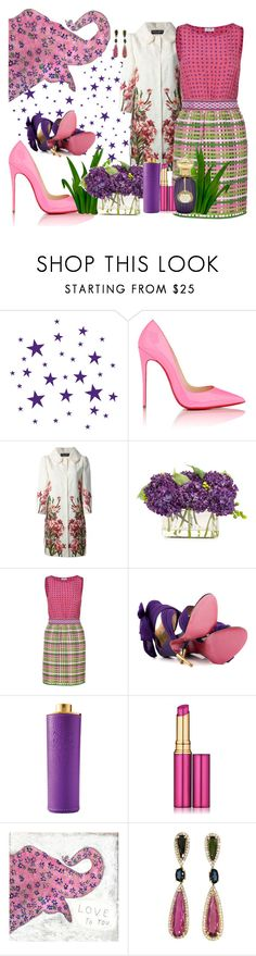 """#mimicry"" by sugarmoonmama ❤ liked on Polyvore featuring ferm LIVING, Christian Louboutin, Dolce&Gabbana, John-Richard, Moschino Cheap & Chic, Paris Hilton, Acqua di Parma, Estée Lauder, WALL and Annick Goutal"