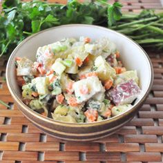 Dairy Free Potato Salad (uses dairy- free ranch dressing - link to recipe http://mywholefoodlife.com/2013/04/08/dairy-free-ranch-dressing/ )
