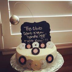 Disco themed Happy Birthday Cake