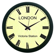 London Vintage Wall Clock (With Glass)
