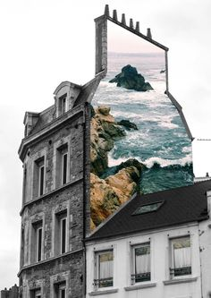 """House"" by Merve Ozaslan. Merve Özaslan's Natural Act collage series shows of… – streetart 3d Street Art, Street Art Graffiti, Collage Kunst, Art Du Collage, Collage Artists, Nature Collage, Graffiti Artists, City Collage, Travel Collage"
