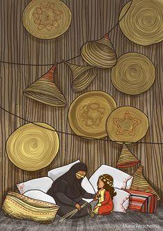 Personal art project about the heritage of the United Arab Emirates. Eid Ramadan, Ramadan Cards, Eid Cards, Uae National Day, Ramadan Decorations, Arabic Art, Islamic Art, Easy Drawings, Illustrators