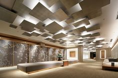 Office Interior Design, Interior Exterior, Office Interiors, Office Ceiling, Open Ceiling, Ceiling Design, Interior Lighting, Layout, Restaurant