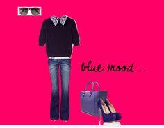 """blue mood"" by giulia-z on Polyvore"