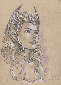 She-Ra by Mike Choi *. This is an awesome drawing!