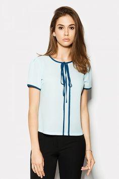 Блуза «Гавана» блакитного кольору