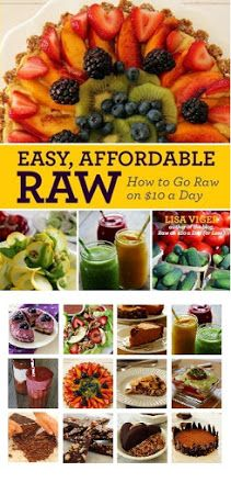"""Raw Food Recipe blog. Author of a """"cook"""" book."""