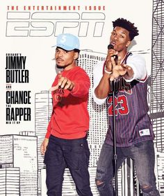 Chicago Bulls star Jimmy Butler and Chance the Rapper on cover of ESPN magazine.