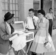 Vendedor de conservas, 1955