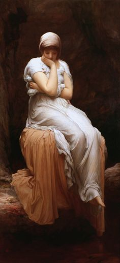 Solitude, by Lord Frederic Leighton, oil on canvas, 182.9 x 91.4 cm, 1890