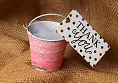 Handmade lace party favor pails by Alwaysadornable