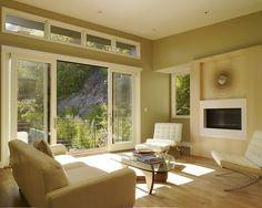 Modern Spaces Indooroutdoor Fireplace