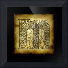 Celtic Letter M by Kristen Fox