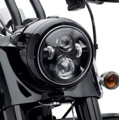DYNA:: Harley Black LED Headlamp