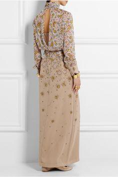 Topshop Unique   Livonia floral-print silk-chiffon maxi dress   NET-A-PORTER.COM