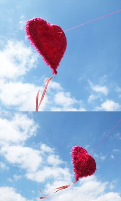 DIY Heart Kite by mypoppet #DIY #Kite #Heart