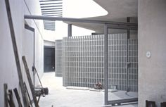 Igualada Cemetery (during construction) by Enric Miralles & Carme Pinós 1994 photo by Open Studio