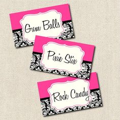 Candy Buffet labels #DBBridalStyle