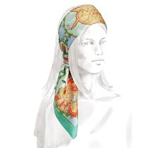 "Chefs Indiens Hermes silk twill scarf, hand rolled, 36"" x 36"""