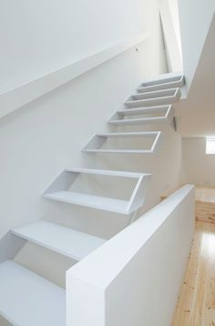 Challenging to make sturdy, but cool none the less, staircase.