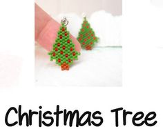 Cute Santa Claus Brick Stitch Pendant / Charm by BeadCrumbs