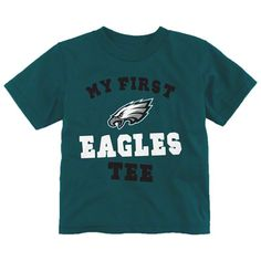 "Make sure their first words are ""GO #EAGLES!"" Infant My First T-Shirt $14.99"
