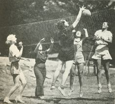 Article written during WWII, 1943, about volleyball and physical fitness in America. Get insight into the times