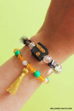 DIY Eid al Adha Jewelry by Hello Holy Days! Diy Eid Gifts, Eid Ideas, Eid Party, Eid Al Adha, Black Acrylic Paint, Embroidery Scissors, Ring Shapes, Gel Pens, Ramadan