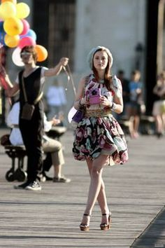 Blair Waldorf Dress:  Moschino  Bag:  Chanel  Cuffs:  Chanel  Shoes:  Christian Louboutin