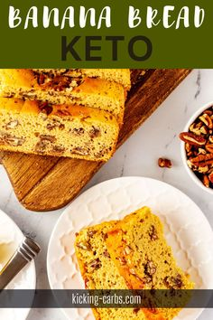 A little variety infuses my diet with excitement, and this Keto Banana Bread is a fun way to mix things up. It is light and moist and makes the perfect breakfast or snack. This recipe is the best way I know to enjoy the classic flavors I love while sticking to a low carb, gluten-free, and keto diet. Sugar Free Breakfast, Gluten Free Recipes For Breakfast, Gluten Free Breakfasts, Quick And Easy Breakfast, Perfect Breakfast, Breakfast Bowls, Healthy Breakfast Recipes, Keto Banana Bread, Egg Dish