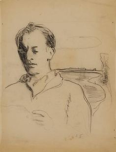 "Jane Freilicher, ""Painter Among Poets"" at Tibor de Nagy Jane Wilson, Frank O Hara, Travel Sketchbook, New York School, Drawing Sketches, Drawings, Human Figure Drawing, American Poets, New York Art"