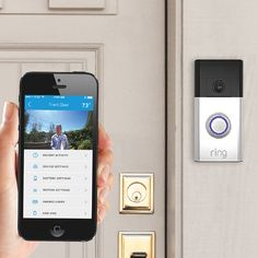 Ring, a Wi-Fi enabled video doorbell, allows you to see and talk with visitors through your smartphone from anywhere—whether you're in the kitchen or half way around the world.