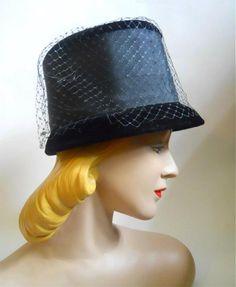 f89b824e64b 60s hat vintage hat mod hat bucket hat Vintage Hats