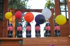 Conduct science experiments using soda, candy, and balloons. | 29 Boredom…