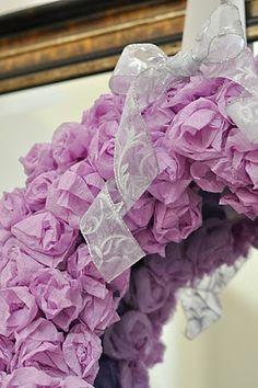 Crepe Paper Rosette Wreath