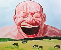 Your Smile is a Sunny Day (from Smile-ism series) by Yue Minjun on artnet Auctions